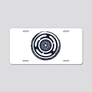 Blue Hecate's Wheel Aluminum License Plate